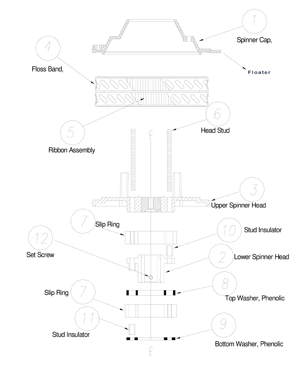 Cotton candy machine diagram