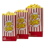 Striped Single-Ply Popcorn Bags