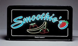 Smoothie 'O Lighted Sign