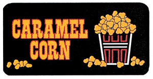 Caramel Corn Lighted Sign