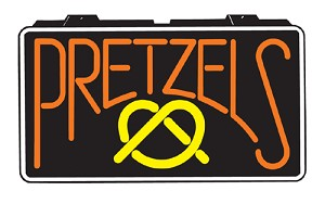 Pretzel Lighted Sign