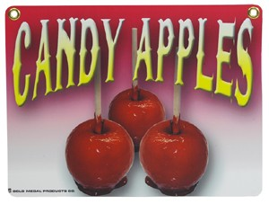 Heavy Duty Candy Apple Sign