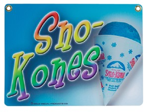 Heavy Duty Snow Cone Sign