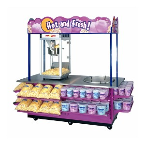 Combo Popcorn and Cotton Candy Cart